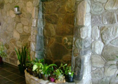 Stone Wall and Indoor Fountain