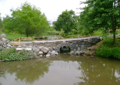Stone Bridge under construction