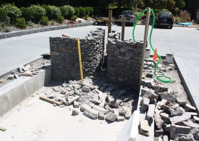 Curved walls under constuction