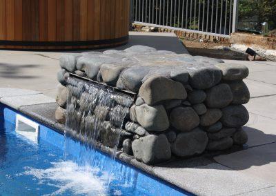 Stone Boulder Pool Step
