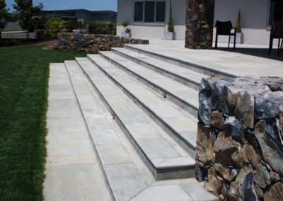 Stone Wall and Paved Stairs