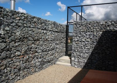 Gabion Wall to Tennis Court