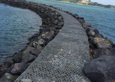 Gabion and Boulder Seawall