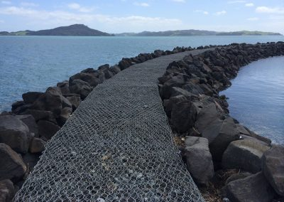 Gabion and Volcanic Stone Sea Wall