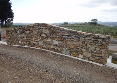 Schist Stone Wall