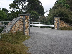 Stone Wall and Bridge Entrance