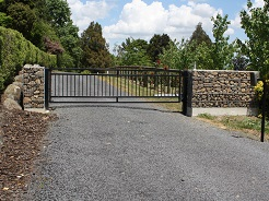 Gabion Stone Wall and Gate