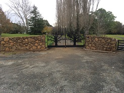 Boulder Stone Wall and Bespoke Tree Gates
