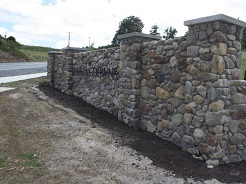 Capped Stone Wall