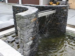 Schist Water Feature