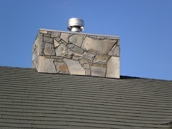Stone Fire Chimney Roof Detail