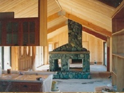 Stone two sided Fireplace
